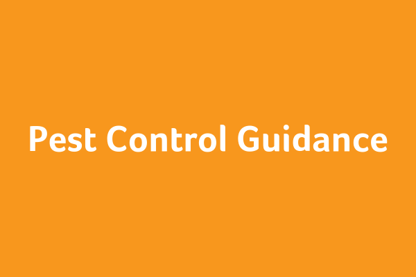 Pest Control Guidance
